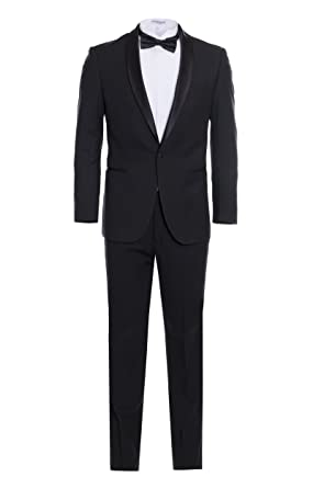 548b71033324 Men's Premium Slim Fit Shawl Lapel Tuxedos -Many Colors- Includes A Free Bow  TIE
