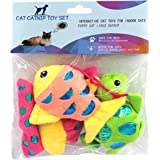 GOHOO PET Catnip Toys Crinkle Paper, 3 Pack Cat Toys with Catnip, Cat Chew Toy for Indoor Cats, Fish Turtle Butterfly Catnip