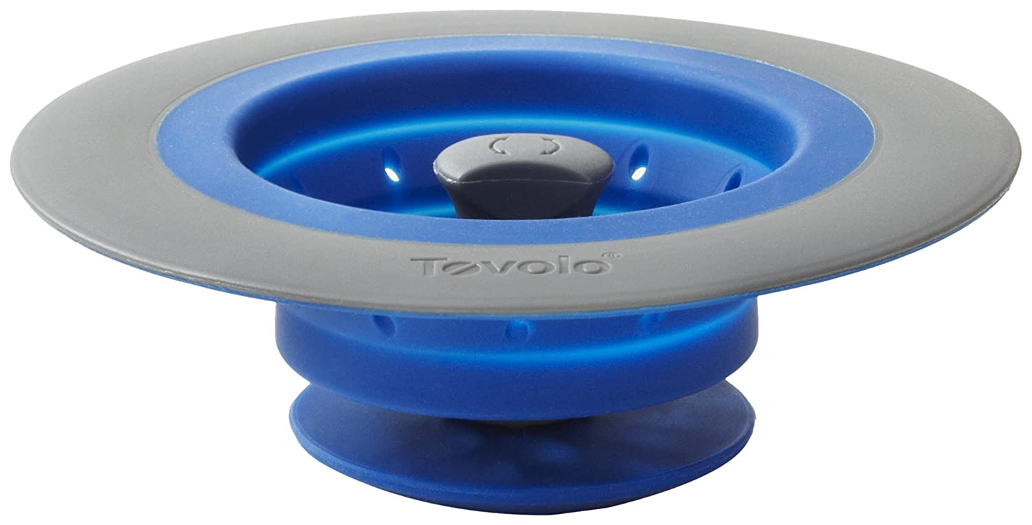 Amazoncom Tovolo Collapsible Silicone Sink StrainerStopper Blue