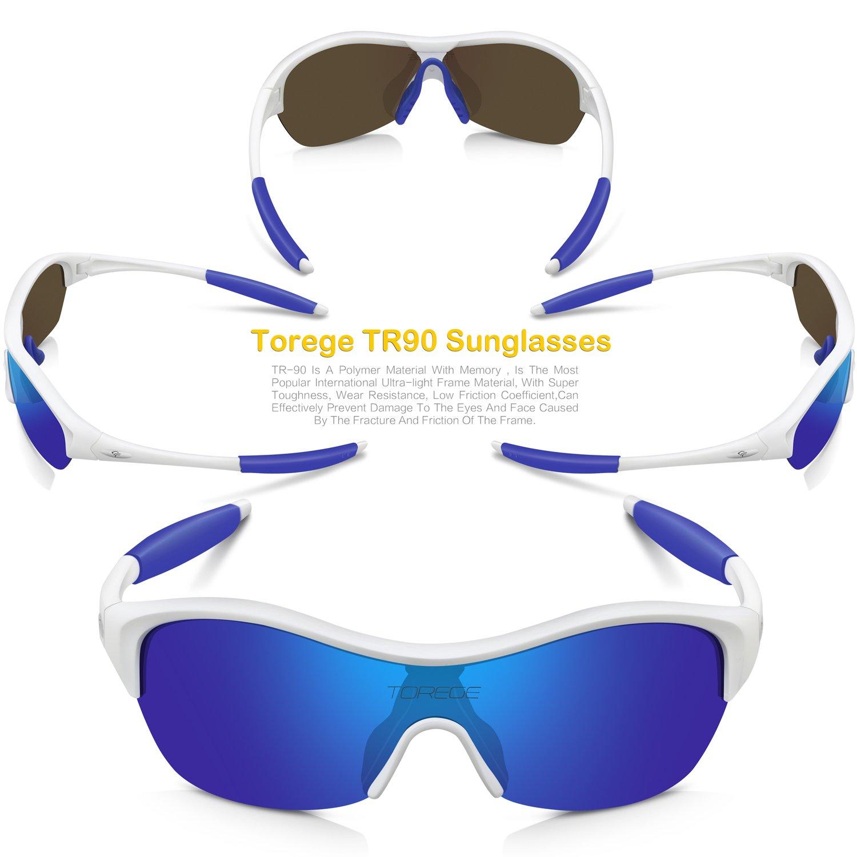 torege TR90 Flexible Niños Deportes Gafas de sol polarizadas gafas para Junior niños niñas edad 3 - 15 trk001: Amazon.es: Deportes y aire libre