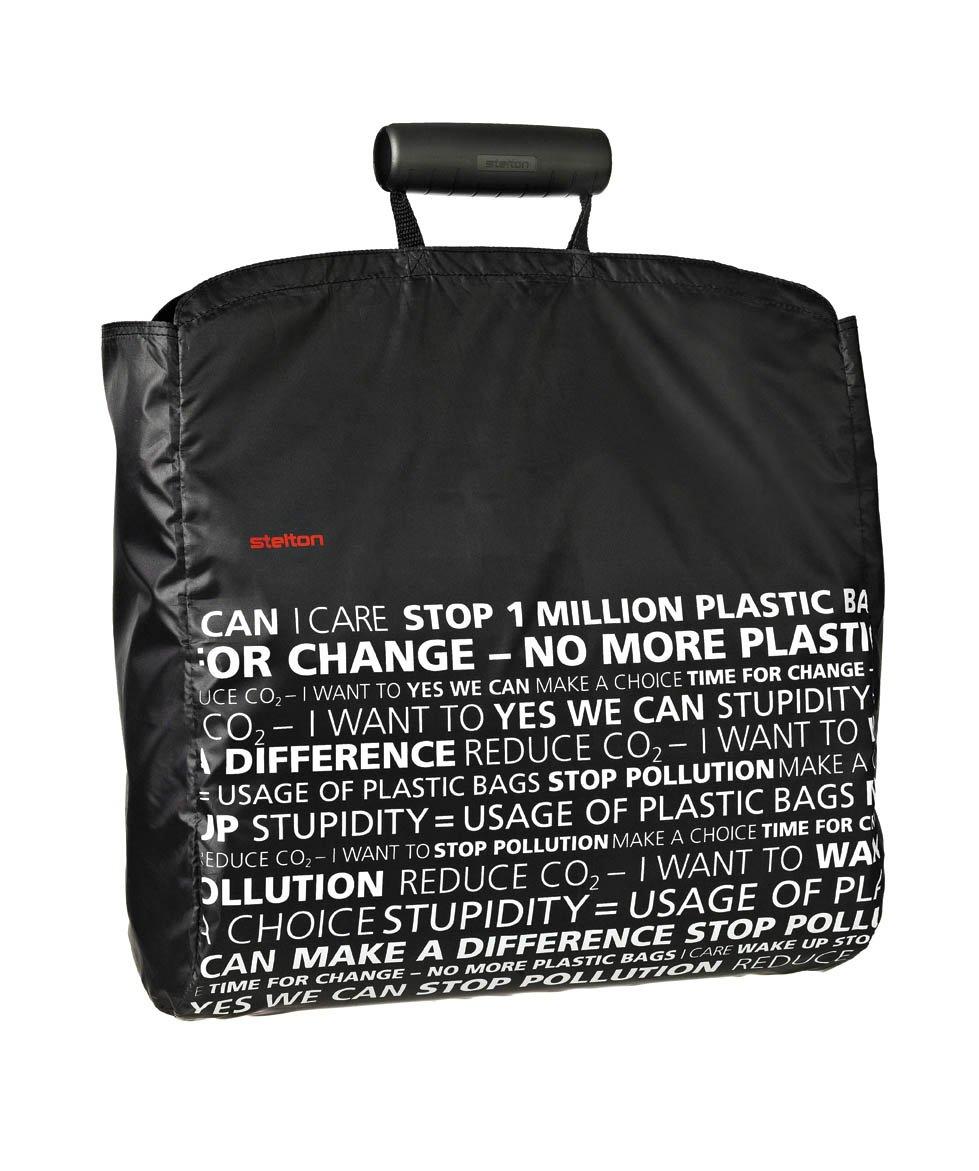 Stelton 1600-2 Shopper Einkaufstasche, schwarz, statement; Design: Designit
