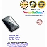 Black Quantum EMF Radiation Protector for Cell Phones -Offers Complete EMF Anti-Radiation Protection —for all cell phones and iPhones 4-7 —No Interference – #1 in Cell Phone EMF Protection