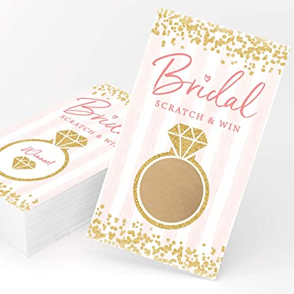 Wedding Bridal Shower Scratch Off Cards Favors 50 Qty.