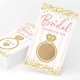 Bridal Scratch Off Shower Game Card 30 Pack
