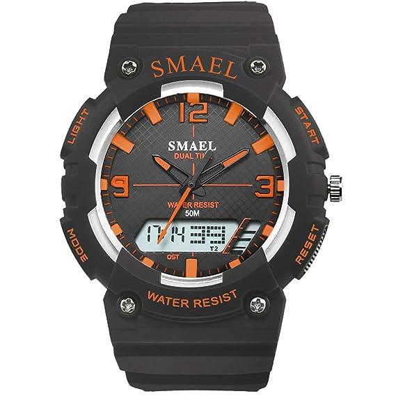 Daesar Reloj Hombre Moda Reloj Digital Reloj de Doble Pantalla Relojes Electronicos Reloj Hombre Luminoso Reloj Despertador Reloj de Estudiante Reloj Negro ...