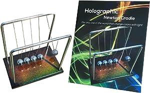 FAXADELLA Holocradle Newton Cradle Holographic   Newton Balls with Holographic Base