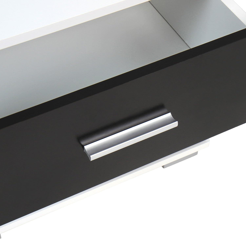 Nachttisch 2er-Set Nachtschrank Farbwahl mit zwei Schubladen Robuster MDF Griffe aus Metall Kommode Ablagetisch Nachtkommode Rot 40x40x35 cm