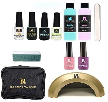Amazon.com : Red Carpet Manicure Cinderella 5 Color LED Gel Nail Polish Kit Set with Travel Bag : Beauty