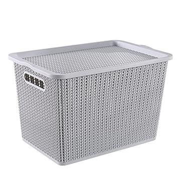 Aufbewahrungsbox Mit Deckel Gross Grau