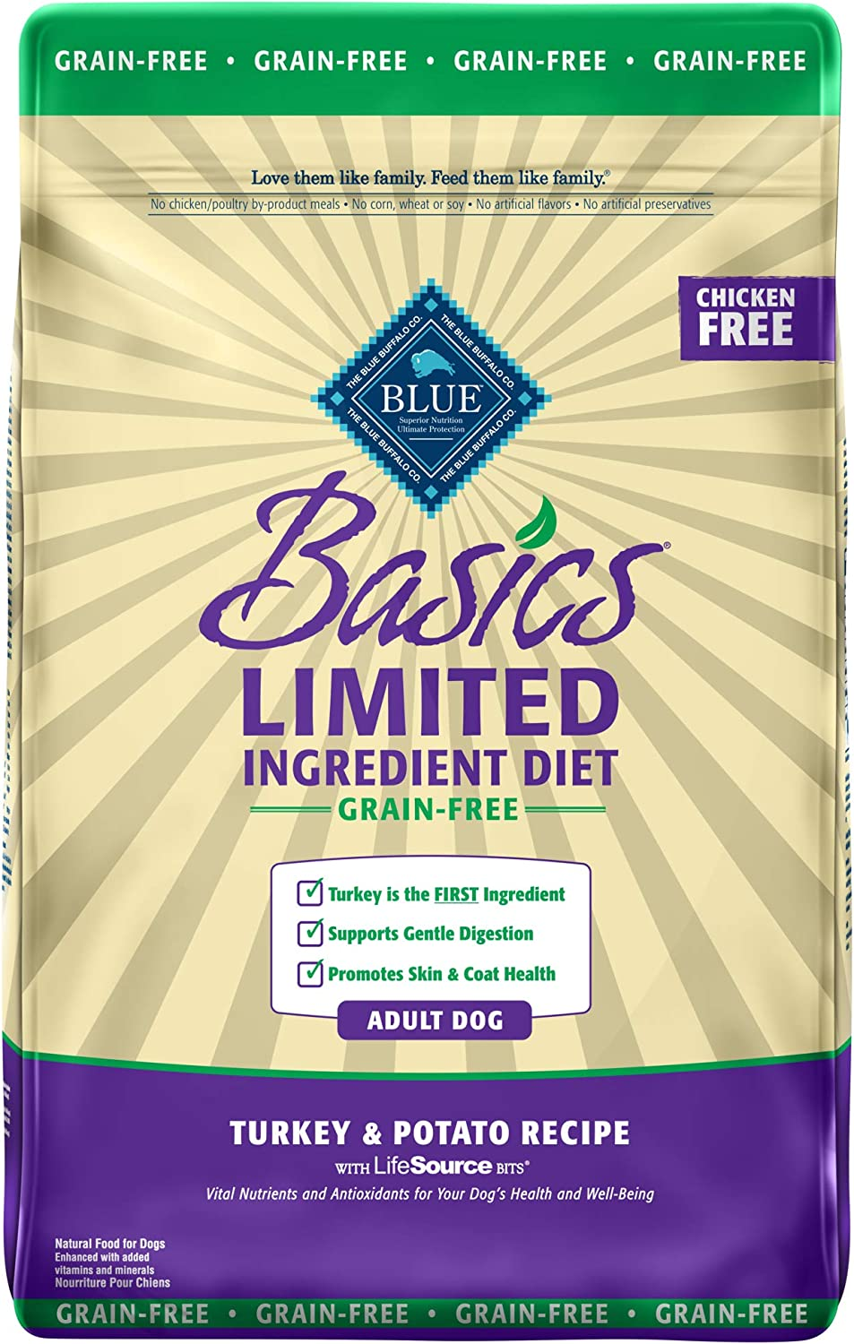 1. Blue Buffalo Basics Limited Ingredient Grain-Free Formula