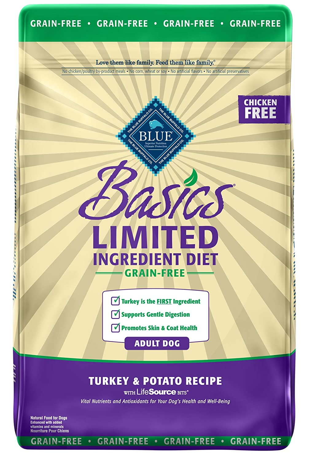 6. Blue Buffalo Basics Limited Ingredients Grain-Free Formula