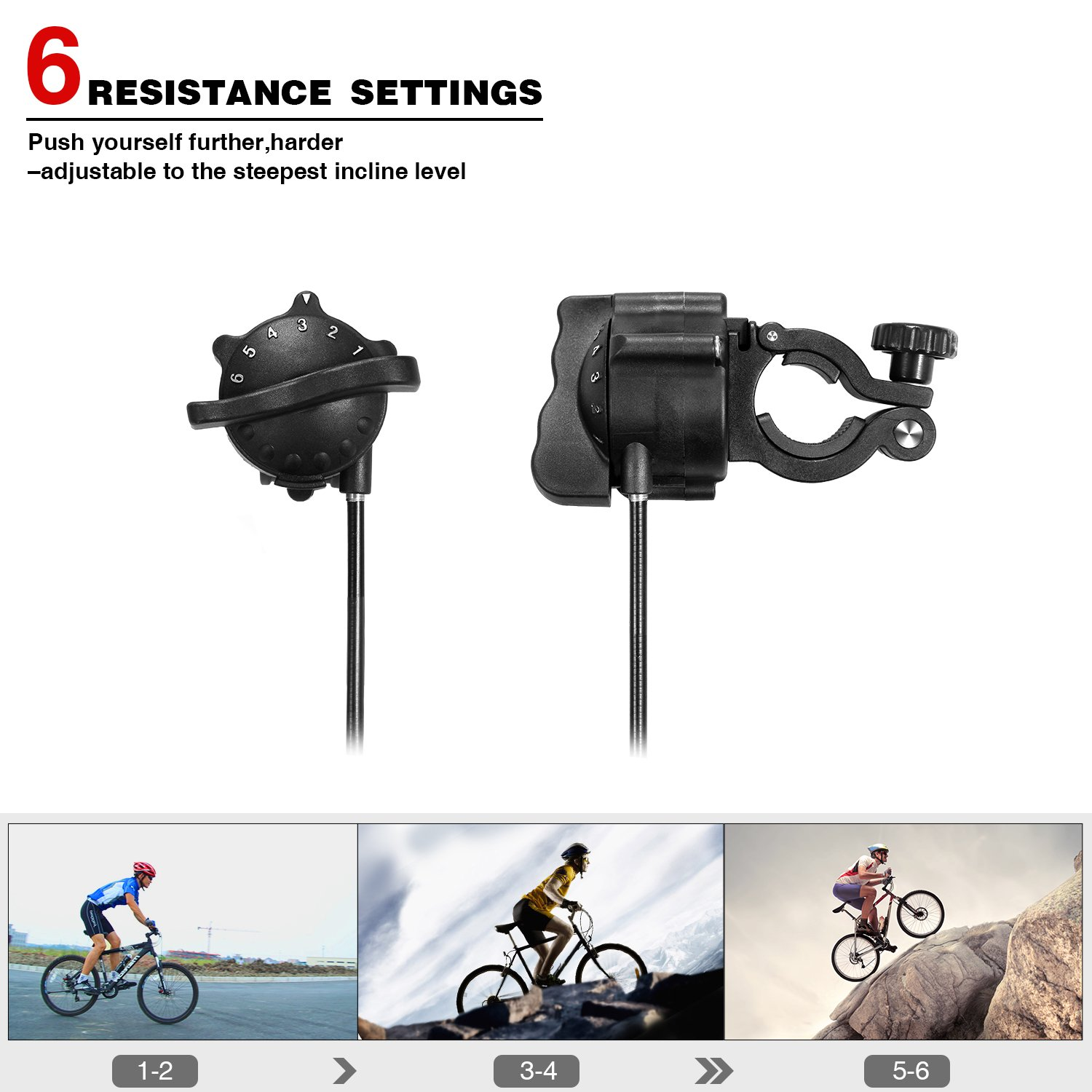 Sportneer Bike Trainer Stand Steel Bicycle Exercise Magnetic Stand with Noise Reduction Wheel, Black by Sportneer (Image #3)