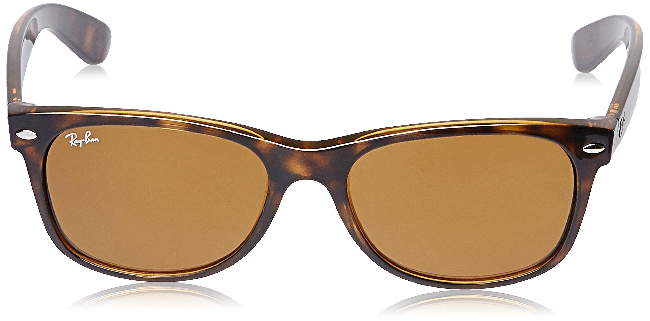 Ray-Ban, RB2132, New Wayfarer Sunglasses, Unisex Ray-Ban Sunglasses, 100% UV Protection, Polarized Wayfarer, Reduce Eye Strain, Lightweight Plastic Frame, Glass Lenses, 58 mm Frame by Ray-Ban (Image #2)
