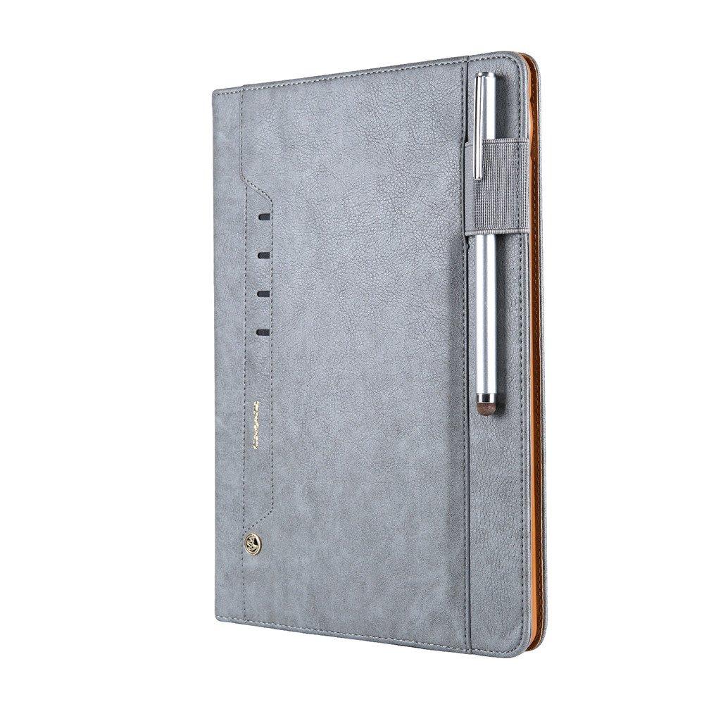 iPad Pro 10.5ケース、磁気スマートプレミアムPUレザースタンドBookケースカバー自動スリープ/スリープ解除withカードスロット[ペンホルダー] for Ipad Pro 10.5インチ2017 released (モデルa1701 a1709 ) グレイ  グレー B074J87NR2