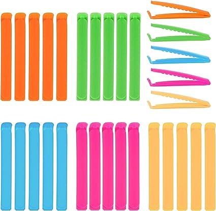 Alimentari Tenuta Clip Clip di Tenuta Plastica Clip Sacchetti Cucina Speyang Clip per Sacchetti per Alimenti 24 Pezzi Clip per Chiudere Sacchetti 3 Misure 3 Colori.