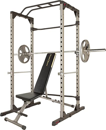 Renewed Fitness Reality 810XLT Super Max Power Cage with Optional Lat Pull-down Attachment and Adjustable Leg Hold-down