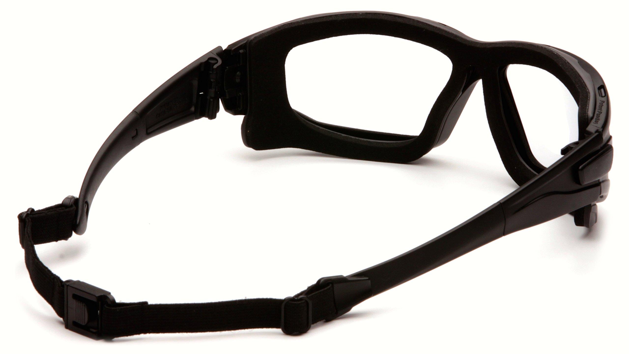 Pyramex I-Force Sporty Dual Pane  Anti-Fog Goggle, Black Frame/Clear Anti-Fog Lens by Pyramex Safety (Image #2)