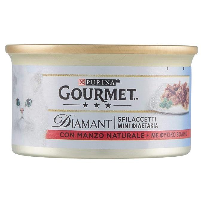 Gourmet – Diamant con Manzo Prelibato, Alimento Completo para Gatos ...