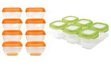 Orange Other Baby Dishes Cups, Dishes & Utensils Vital Baby Press 'n' Pop Mini Freezer Pots 8pk
