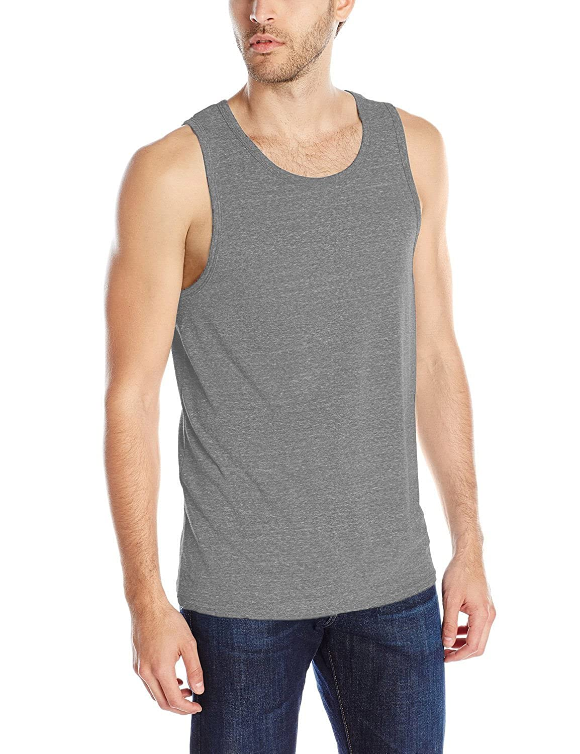 1a2e65cdc6ef6d Men s Tri-Blend Tank Top Active Soft Muscle Fit Shirts at Amazon Men s  Clothing store