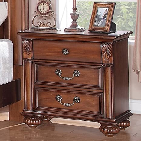 new concept df288 a782b Elements International Bronson Nightstand