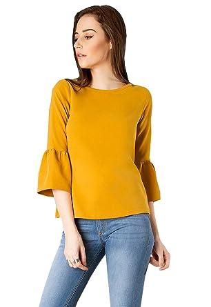 f1954c984 J B Fashion Women s Crepe Plain Top  Amazon.in  Clothing   Accessories