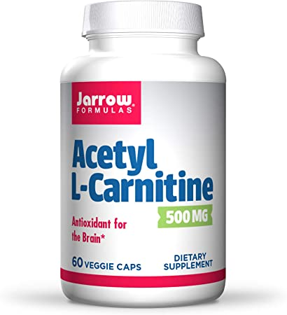Jarrow Formulas Acetyl L-Carnitine 500 mg - 60 Veggie Caps - Antioxidant Protection for The Brain - Supports Energy Production & Metabolism - Heart & Cardiovascular Health - Up to 60 Servings