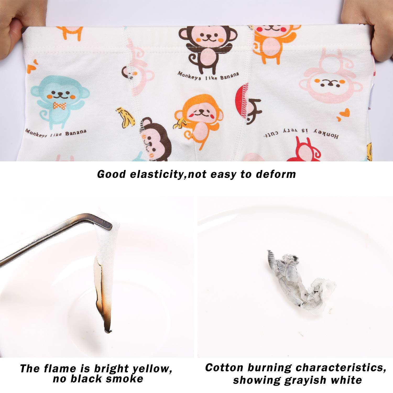 SIVICE Little Boys Cartoon Cotton Boxer Brief Underwear Pack of 4