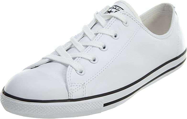 Menos Distribuir té  Converse Women's Chuck Taylor All Star Dainty Ox Low-Top Sneakers, White  White, 7.5 UK: Amazon.co.uk: Shoes & Bags