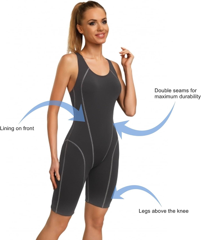Gwinner costume da bagno costume da bagno Sport Tuta con le gambe estese per le donne molto conveniente e flessibile di alta qualit/à made in Olga UE ideale per lo sport e il nuoto prestazioni