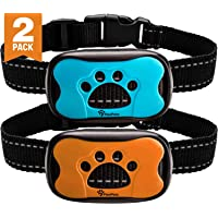 PawPets Anti Bark Collar - No Shock Training Dog Collar - Humane with Vibration and Sound Barking Collar for Small Medium Large Dogs 5-110lbs - 2 Pack - Great as Gift