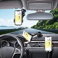 Hapfish Telefoonhouder Auto, 3 in 1 Universele Mobiele Telefoonhouder Auto voor Dashboard en Voorruit en Ventilatie, 360…