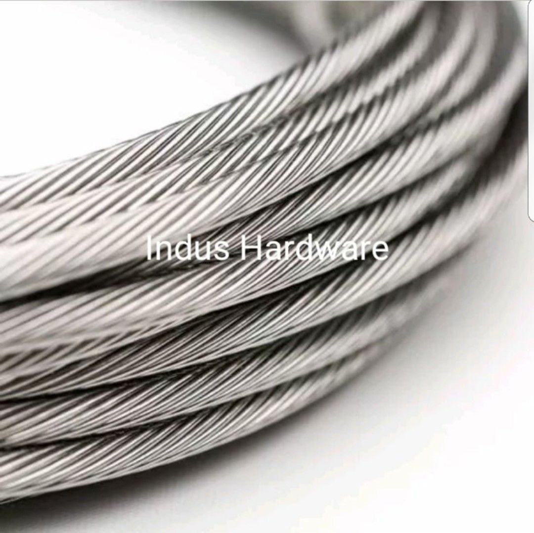 SKEMIDEX---1000' 1/8'' 1x19 Strand Stainless Steel Cable Best for Cable Railing T316 SS And tow rope lowes tow rope home depot tow strap o'reilly tow strap advance auto tow strap harbor freight tow