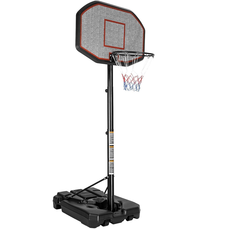 TecTake Canestro da basket con colonna impianto da basket mobile | Salda stabilità | Altezza canestro: 200 - 305 cm