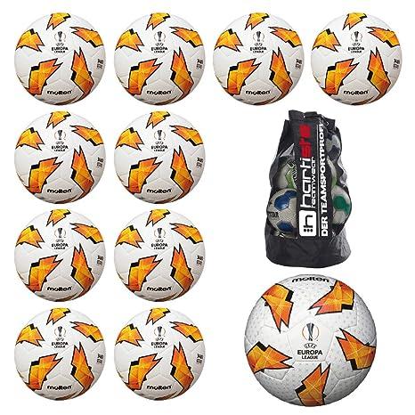 MOLTEN 10 x f5u3400 de G18 Fútbol Replica + 1 x f5u5003 G18 Balón ...
