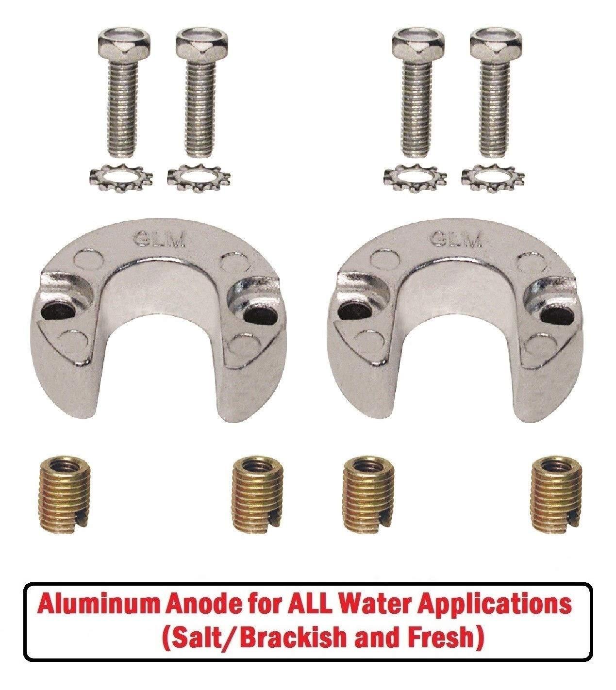 Aluminum Trim Cylinder Anode Kit for Mercruiser Alpha One Gen II 1991 /& Up 806189A1
