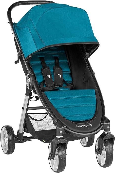 Opinión sobre Baby Jogger City Mini 2 de 4 Ruedas Capri. Silla de paseo desde nacimiento hasta 22kg. Color turquesa