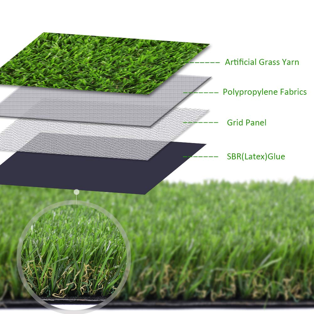 Amazon.com: Artificial lawn Synthetic Turf Artficial Grass for Dog Pet Area  Indoor Outdoor Landscape, 2'x4': Garden & Outdoor