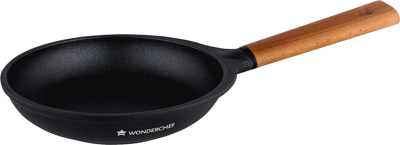 Wonder Chef Caesar Non stick Induction Frying Pan, 26cm, Black
