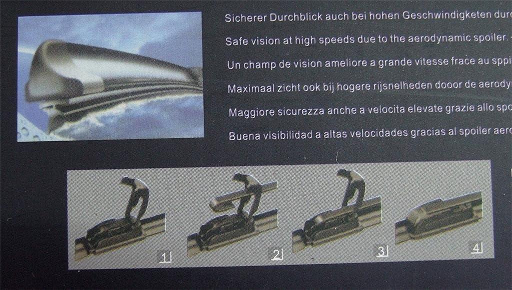 1 x 21 530 mm Wischerblatt AeroFLEX Flach Scheibenwischer Wischer Vorne Universal NEU