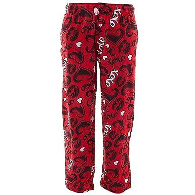 fun boxers mens valentines day red kisses pajama - Valentines Day Pajamas