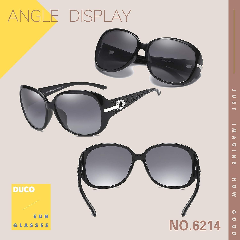 Duco Womens Shades Classic Oversized Polarized Sunglasses 100/% UV Protection 6214