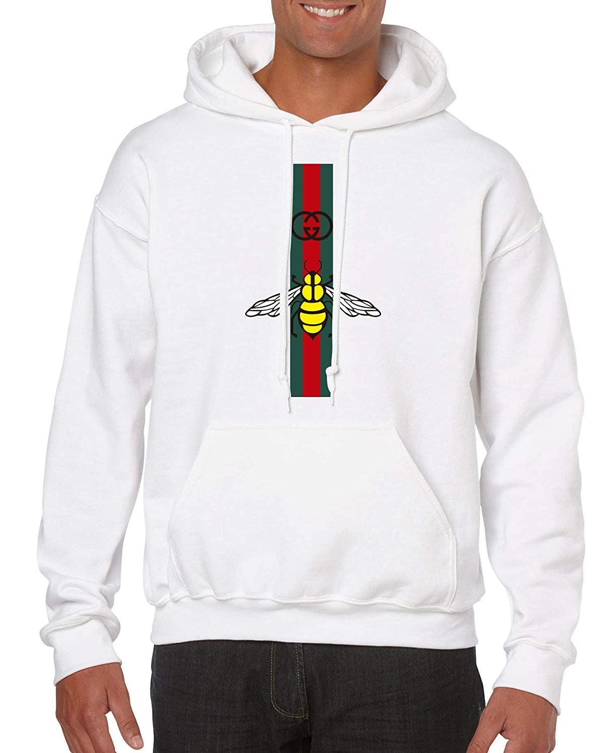 Bee Animal Print Gucci Style , Hoodie , Sweater Unisex for Any Occasion  (Y04) White