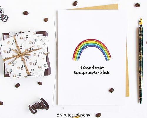 Posta arcoiris, postal lista para enviar, postal para ...