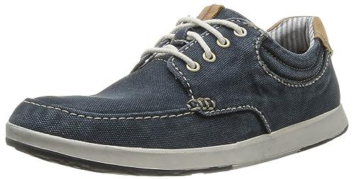 Clarks Norwin Vibe 203586147 - Zapatos de lona para hombre, color azul, talla 46