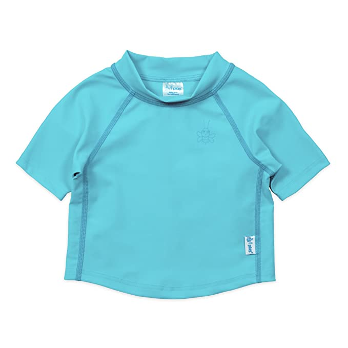 Royal Blue by green sprouts Kids /& Baby Short Sleeve Rashguard Shirt i play 6mo