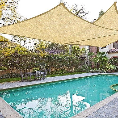 Yescom 2 Set 16×16 Square Outdoor Patio Square Sun Sail Shade Canopy Cover Sand UV Blocking