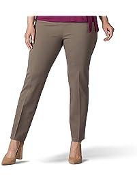 Lee Womens Plus Size Sculpting Slim Fit Slim Leg Pull on Pant Pants