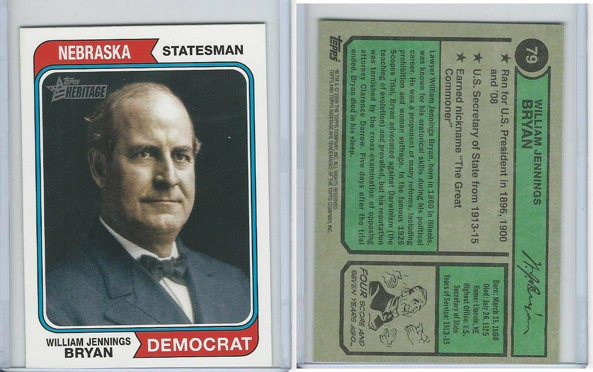 2009 Topps, American Heritage, 79 William Jennings Bryan