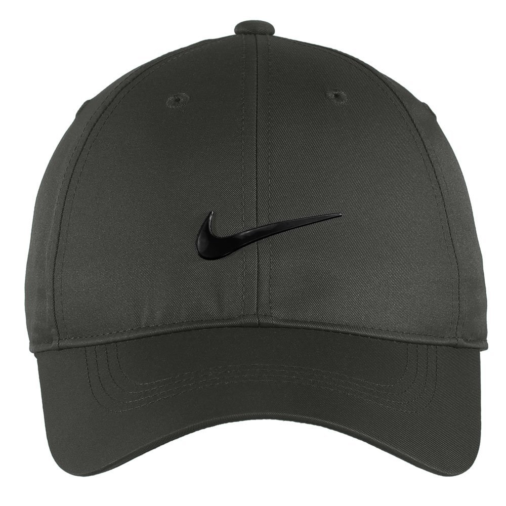 861d0e8151 Nike Authentic Dri-FIT Low Profile Swoosh Front Adjustable Cap - Dark Grey
